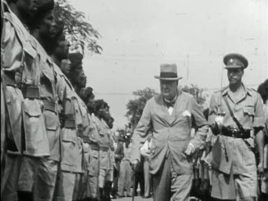 CHURCHILL VISITS JAMAICA